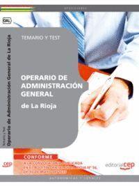 OPERARIO DE ADMINISTRACIÓN GENERAL DE LA RIOJA. TEMARIO Y TEST