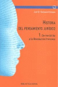 HISTORIA DEL PENSAMIENTO JURÍDICO I