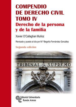 COMPENDIO DE DERECHO CIVIL. DERECHO DE LA PERSONA Y DE LA FAMILIA
