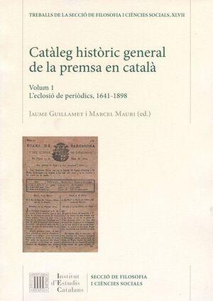 CATÀLEG HISTÒRIC GENERAL DE LA PREMSA EN CATALÀ