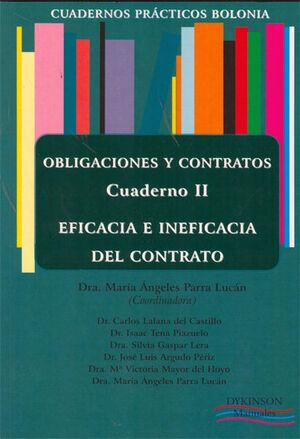 CUADERNOS PRÁCTICOS BOLONIA. OBLIGACIONES Y CONTRATOS. CUADERNO III. MECANISMOS DE EXTINCIÓN DE LA RELACIÓN OBLIGATORIA.