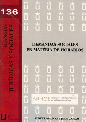 DEMANDAS SOCIALES EN MATERIA DE HORARIOS