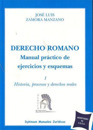 DERECHO ROMANO. MANUAL PRÁCTICO DE EJERCICIOS Y ESQUEMAS I.