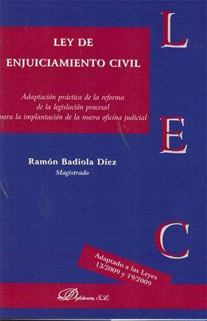 LEY DE ENJUICIAMIENTO CIVIL ADAPTACIÓN PRÁCTICA DE LA REFORMA DE LA LEGISLACIÓN PROCESAL PARA LA IMP