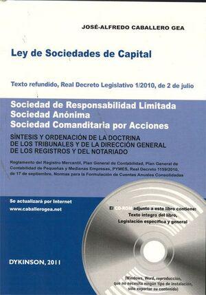 LEY DE SOCIEDADES DE CAPITAL. TEXTO REFUNDIDO, REAL DECRETO LEGISLATIVO 1/2010, DE 2 DE JULIO. SOCIE
