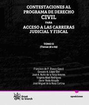 CONTESTACIONES AL PROGRAMA DE DERECHO CIVIL PARA ACCESO A LAS CARRERAS JUDICIAL Y FISCAL TEMAS 38 A