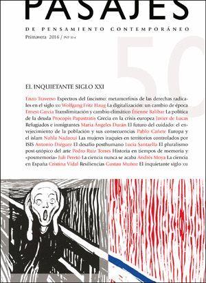 PASAJES DE PENSAMIENTO CONTEMPORÁNEO Nº 50 PRIMAVERA 2016