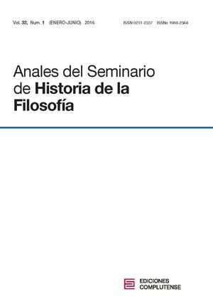ANALES DEL SEMINARIO DE HISTORIA DE LA FILOSOFÍA VOL. 33, NÚM. 1