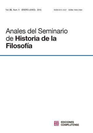ANALES DEL SEMINARIO DE HISTORIA DE LA FILOSOF�A VOL. 33, N�M. 1