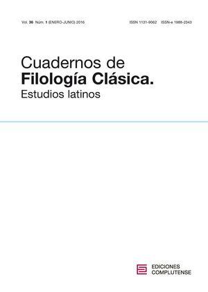 CUADERNOS DE FILOLOG�A CL�SICA. ESTUDIOS LATINOS VOL. 36, N�M. 1