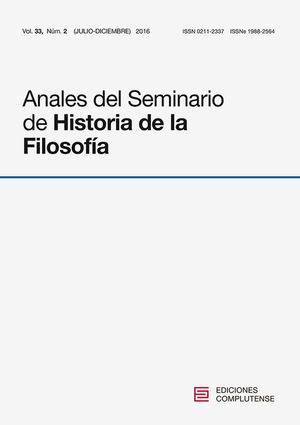 ANALES DEL SEMINARIO DE HISTORIA DE LA FILOSOFÍA VOL. 33, NÚM. 2
