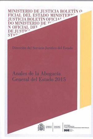 ANALES DE LA ABOGACIA GENERAL DEL ESTADO 2015