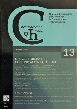 COMUNICACIÓN Y HOMBRE Nº 13 (ENERO 2017). REVISTA INTERDISCIPLINAR DE CIENCIAS DE LA COMUNICACIÓN Y HUMANIDADES