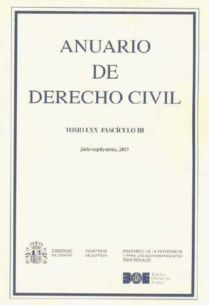 ANUARIO DE DERECHO CIVIL, 2017