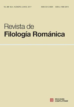REVISTA DE FILOLOGÍA ROMÁNICA, VOL. 34 NUM. 1