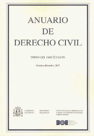 ANUARIO DE DERECHO CIVIL 2017