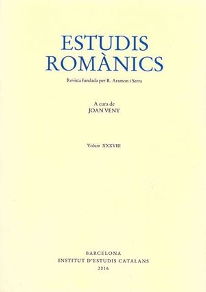 ESTUDIS ROMÀNICS Nº 38 (2016)