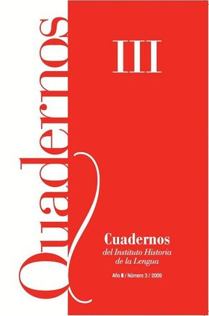 CUADERNOS DEL INSTITUTO HISTORIA DE LA LENGUA Nº 3 (2009)