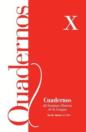 CUADERNOS DEL INSTITUTO HISTORIA DE LA LENGUA Nº 10 (2017)