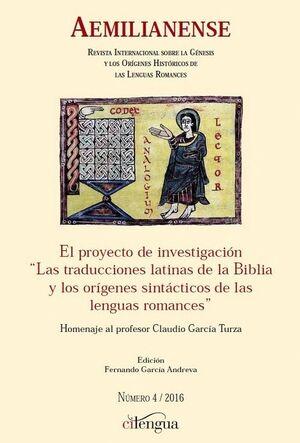 AEMILIANENSE Nº 4 (2016) REVISTA INTERNACIONAL SOBRE LA GÉNESIS Y LOS ORÍGENES HISTÓRICOS DE LAS LENGUAS ROMANCES