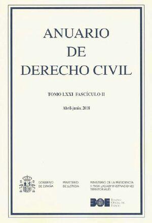 ANUARIO DE DERECHO CIVIL 2018