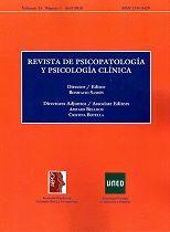 REVISTA DE PSICOPATOLOGÍA Y PSICOLOGÍA CLÍNICA - VOLUMEN 23 - NÚMERO 1
