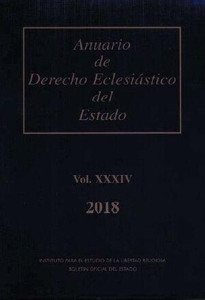 ANUARIO DE DERECHO ECLESIÁSTICO DEL ESTADO VOL. XXXIV (2018)