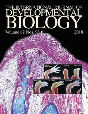 THE INTERNATIONAL JOURNAL OF DEVELOPMENTAL BIOLOGY, 62.9/10