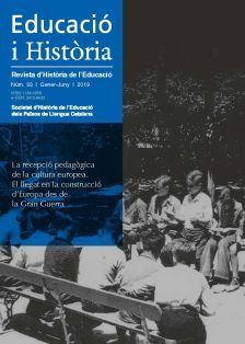 EDUCACIÓ I HISTÒRIA. REVISTA D'HISTÒRIA DE L'EDUCACIÒ NÚM. 33 (GENER-JUNY 2019)