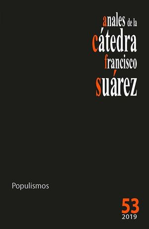 ANALES DE LA CÁTEDRA FRANCISCO SUÁREZ Nº 53 (2019)