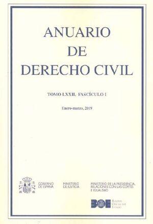 ANUARIO DE DERECHO CIVIL, 2019