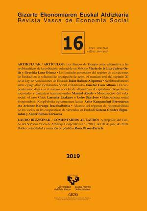 REVISTA VASCA DE ECONOMÍA SOCIAL Nº 16 (2019)