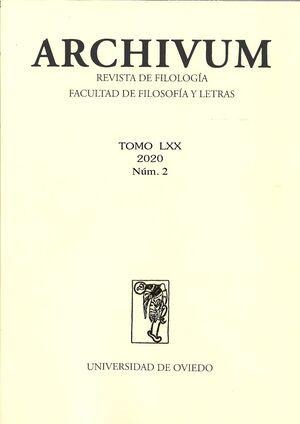 ARCHIVUM VOL. 70 Nº 2 (2020)